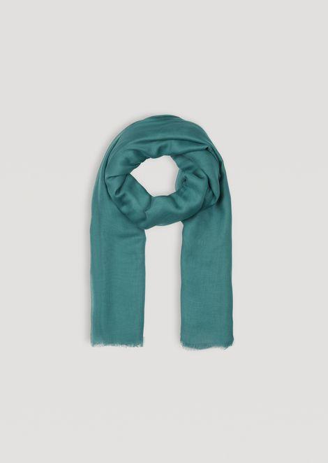 Modal scarf with flocked logo