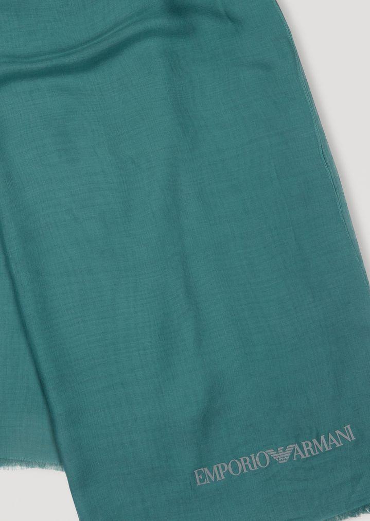 Emporio Armani - Pañuelo de modal con logotipo flocado - 3
