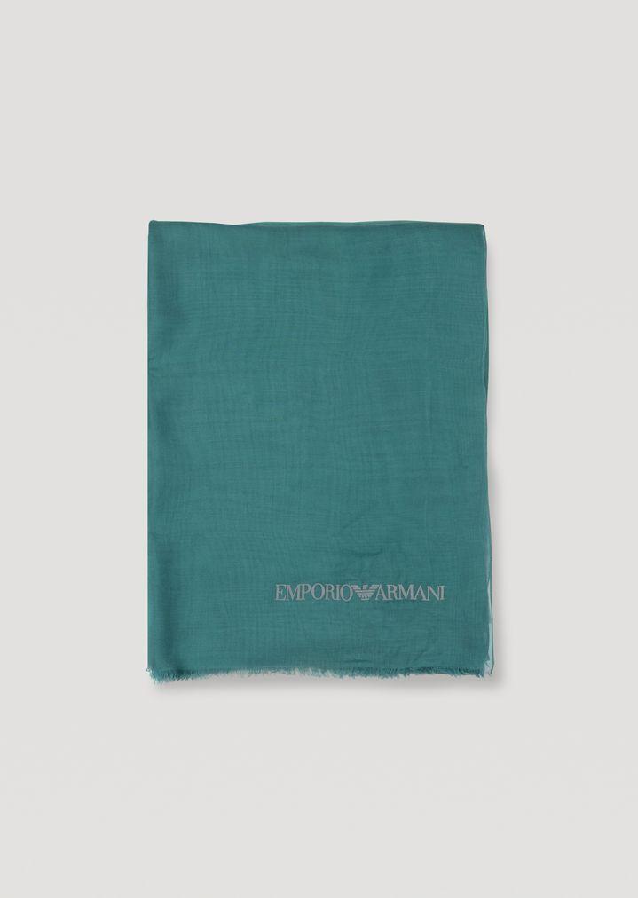 Emporio Armani - Pañuelo de modal con logotipo flocado - 4