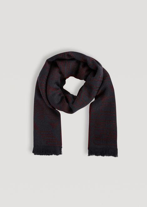 Écharpe en pure laine avec logo jacquard 56ef213ce2f