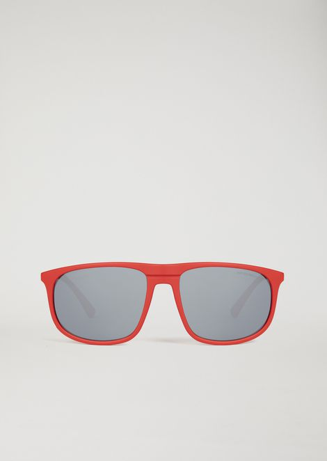 Acetate sunglasses with coloured lenses