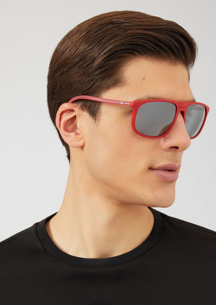 EMPORIO ARMANI Acetate sunglasses with coloured lenses Sunglasses Man a