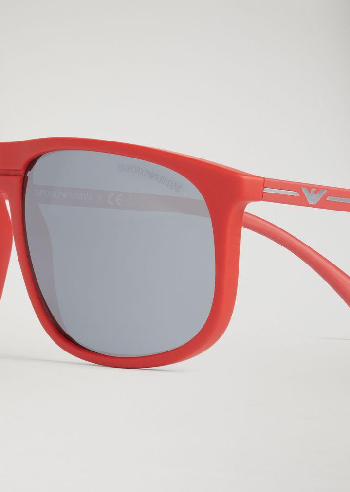 EMPORIO ARMANI Acetate sunglasses with coloured lenses Sunglasses Man d
