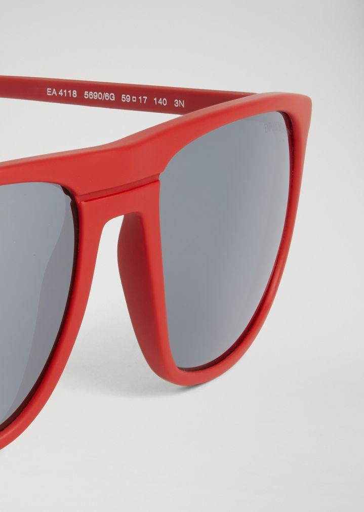 EMPORIO ARMANI Acetate sunglasses with coloured lenses Sunglasses Man e