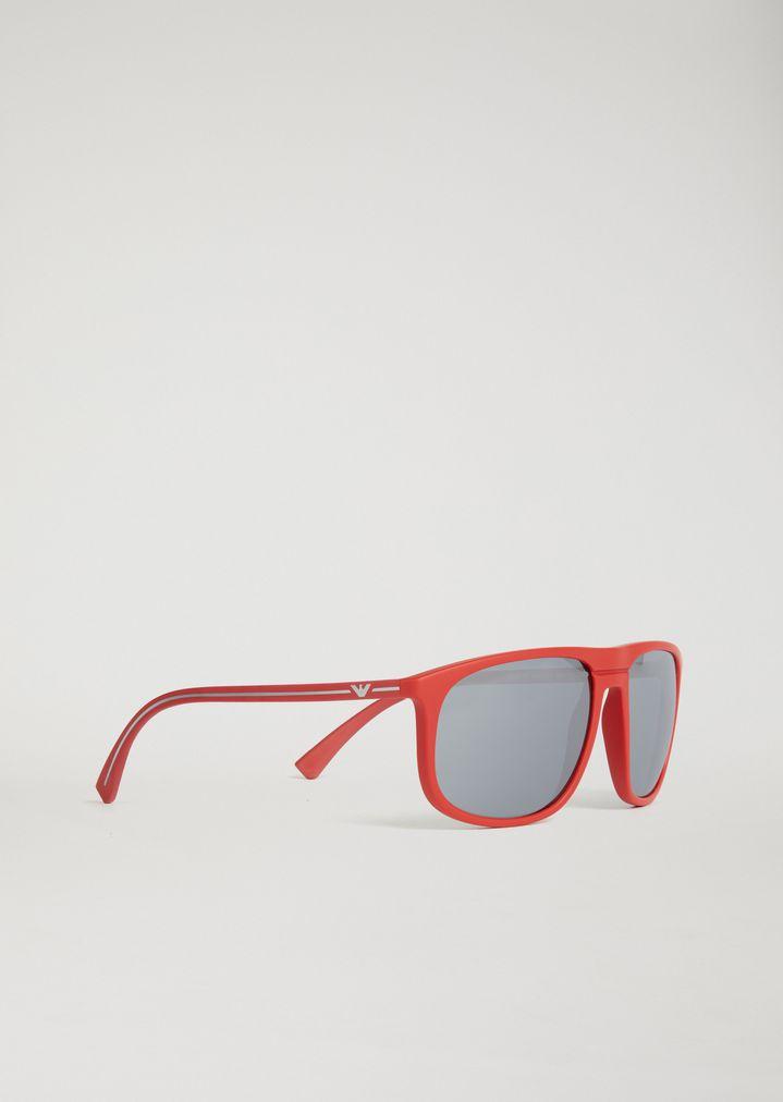 EMPORIO ARMANI Acetate sunglasses with coloured lenses Sunglasses Man f