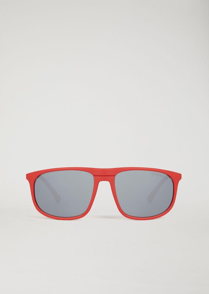 EMPORIO ARMANI Acetate sunglasses with coloured lenses Sunglasses Man r