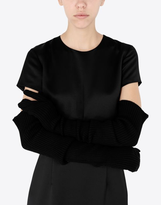 MAISON MARGIELA Ribbed long knit gloves Gloves [*** pickupInStoreShipping_info ***] b