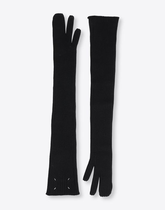 MAISON MARGIELA Ribbed long knit gloves Gloves [*** pickupInStoreShipping_info ***] r