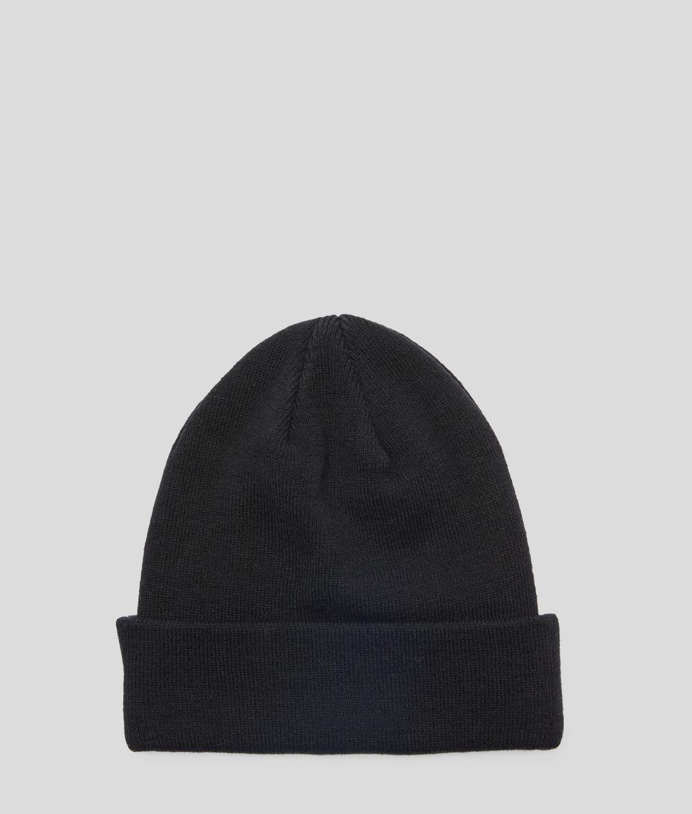 KARL LAGERFELD K/Ikonik Wool Blend Beanie Hat Hat Woman d