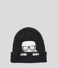 KARL LAGERFELD K/Ikonik Wool Blend Beanie Hat 9_f