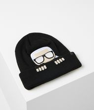 KARL LAGERFELD Hat Woman K/Ikonik Wool Blend Beanie Hat f