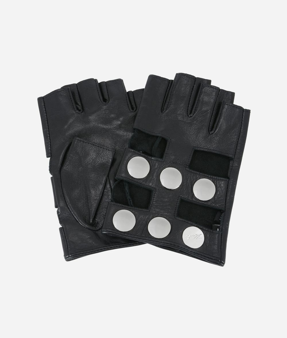 KARL LAGERFELD K/Snaps Leather Gloves Glove Woman f