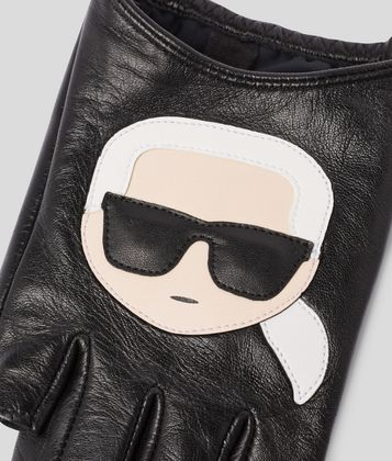 KARL LAGERFELD K/IKONIK LEATHER GLOVES