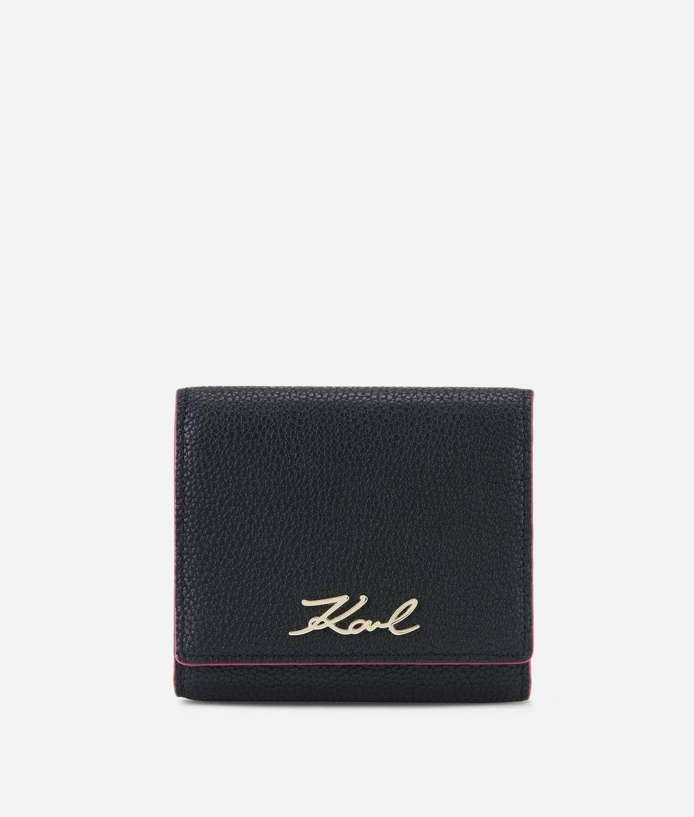 KARL LAGERFELD K/Karry All Leather Fold Wallet Wallet Woman f