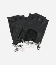 KARL LAGERFELD K/Charm Leather Gloves 9_f