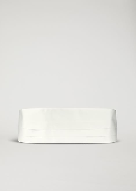Pure silk satin cummerbund