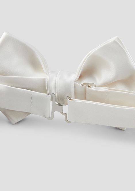Pure silk satin bow tie