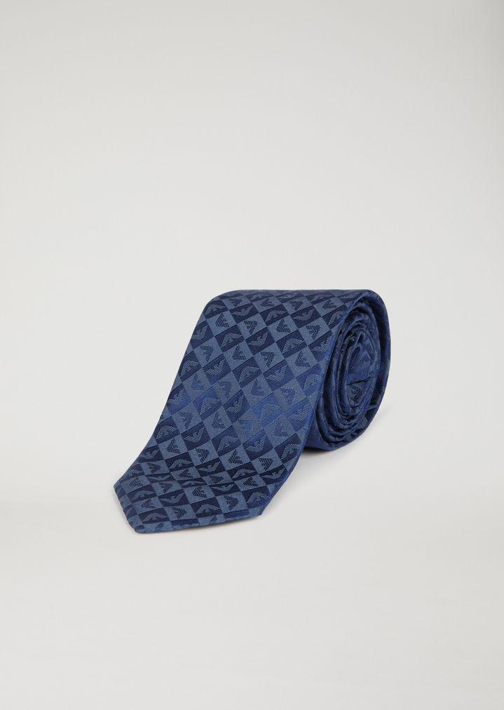 Corbata de pura seda con estampado de logotipo  d3d93e1ccbb