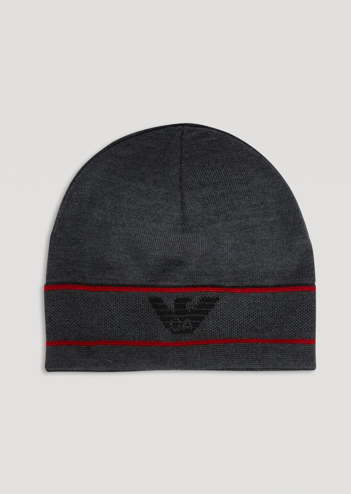 cbb3aa25279 Reversible knitted hat with logo