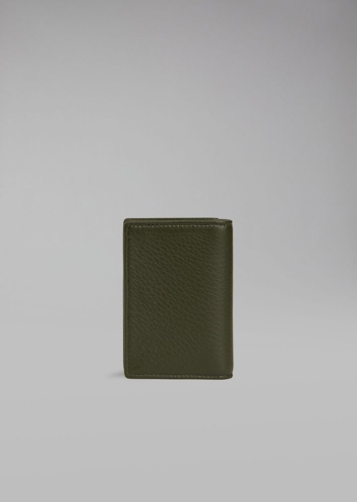 877d7ca796 Card holder in hammered leather | Man | Giorgio Armani