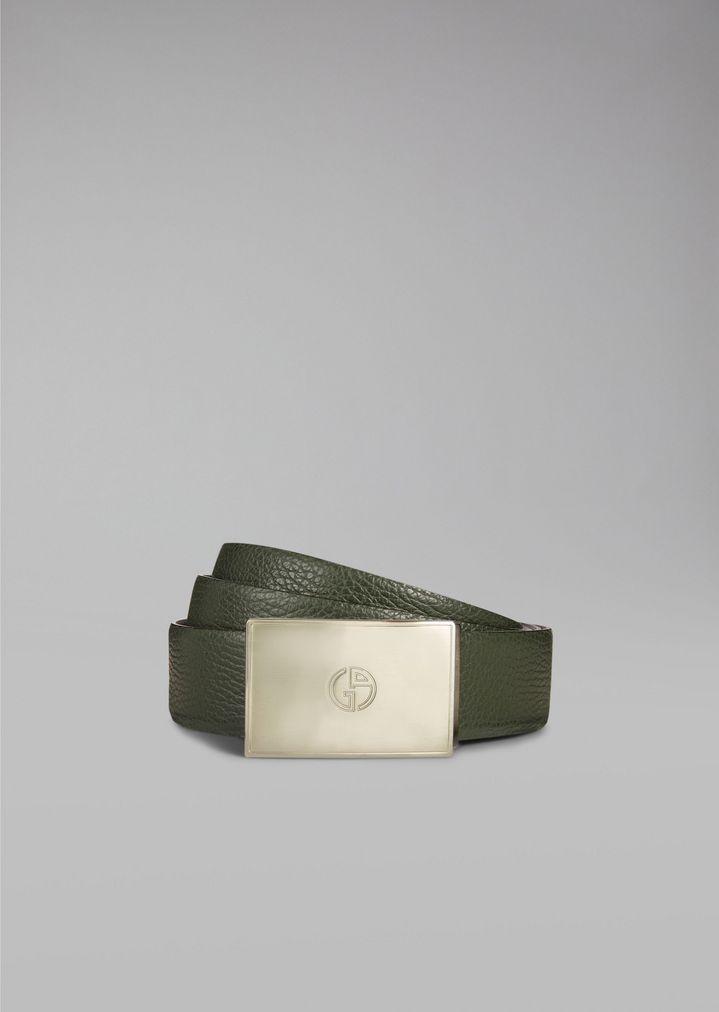 cd81ec94bd Reversible leather belt | Man | Giorgio Armani