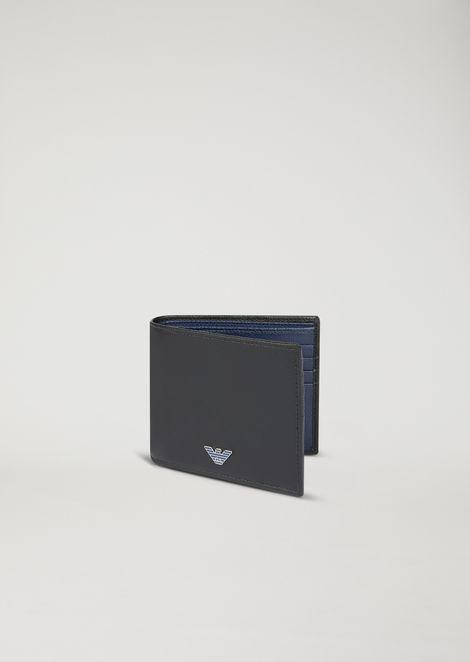Boarded leather wallet