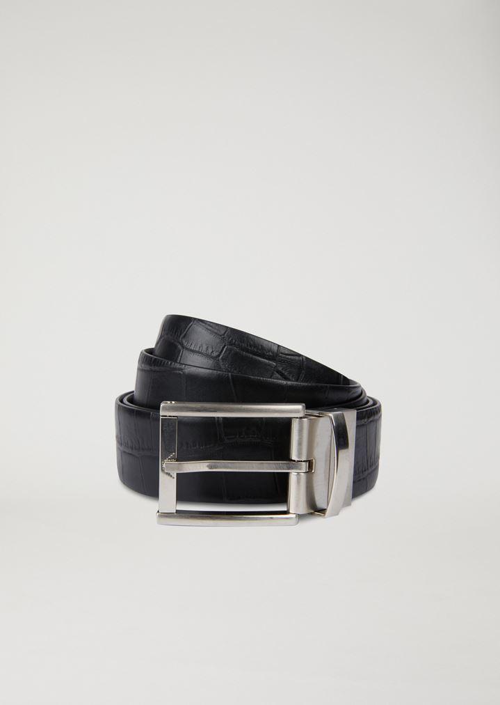 nuovo stile 29dbd b5119 Cintura in pelle stampa cocco
