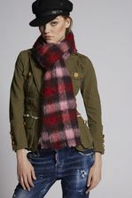 DSQUARED2 Bronx Hip Hop Silk & Woven Scarf Scarf Woman