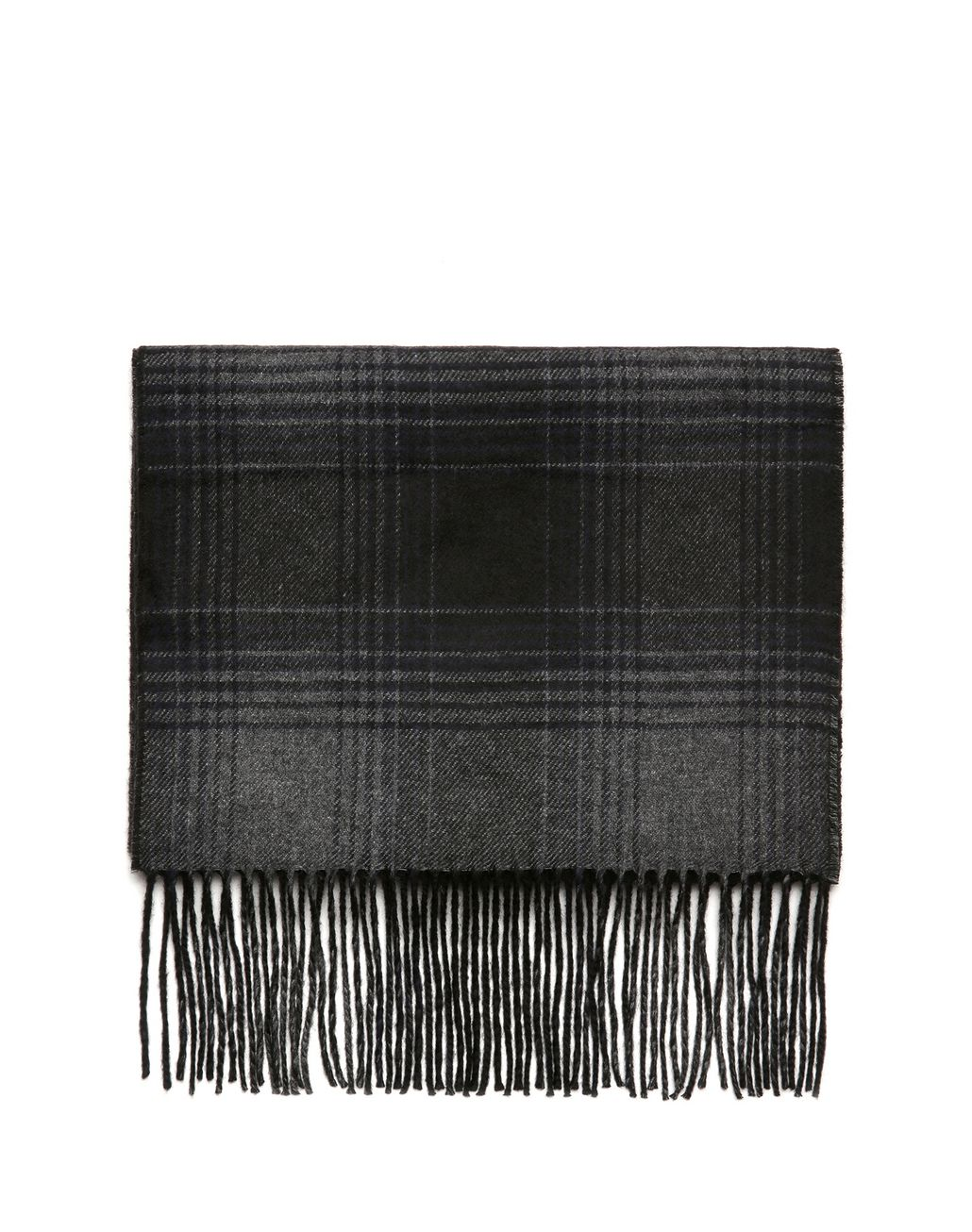 BRIONI Navy Blue Plaid Scarf Foulards & Scarves [*** pickupInStoreShippingNotGuaranteed_info ***] f