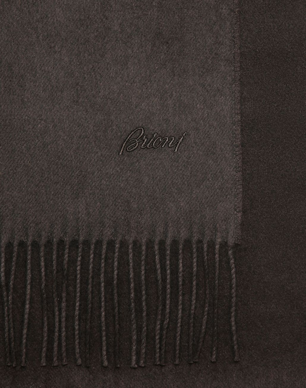 BRIONI Dark Brown Scarf Foulards & Scarves Man d