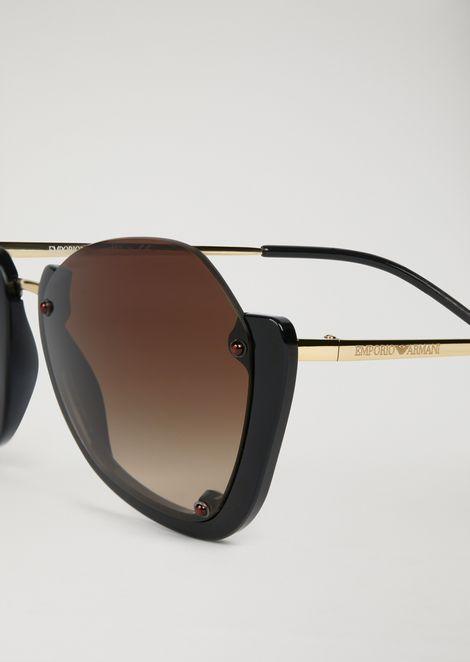 Sunglasses with half frame