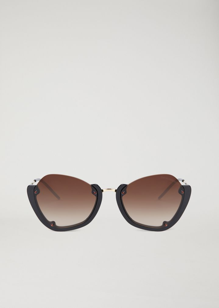 67545d0801b ... Sunglasses with half frame. EMPORIO ARMANI