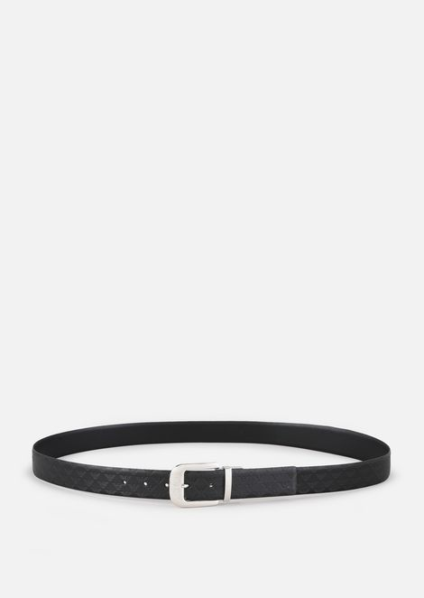 ALL-OVER PRINT AND SMOOTH LEATHER BELT