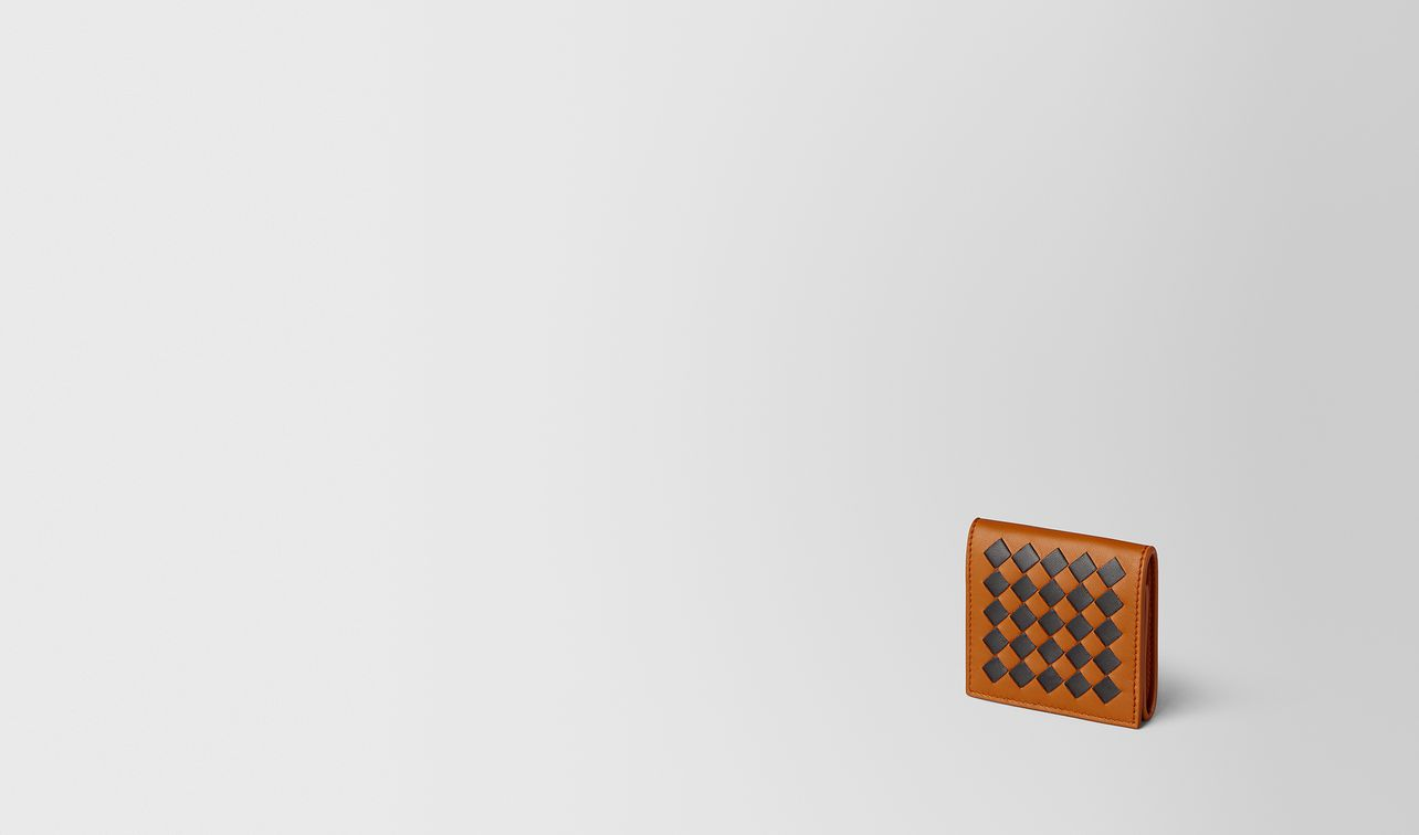 orange/nero intrecciato checker coin purse landing
