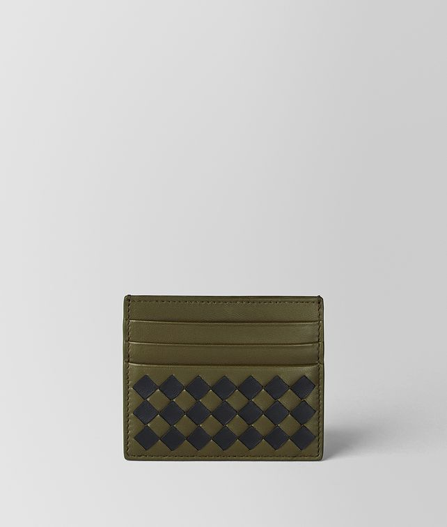 BOTTEGA VENETA MUSTARD/NERO INTRECCIATO CHECKER CARD CASE Card Case or Coin Purse [*** pickupInStoreShippingNotGuaranteed_info ***] fp
