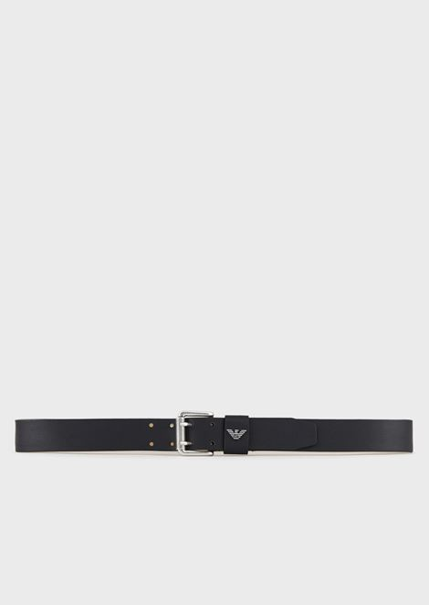 PRINTED AND BOARDED LEATHER BELT