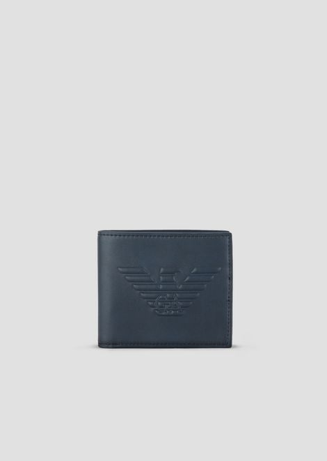Bi-fold wallet with maxi logo