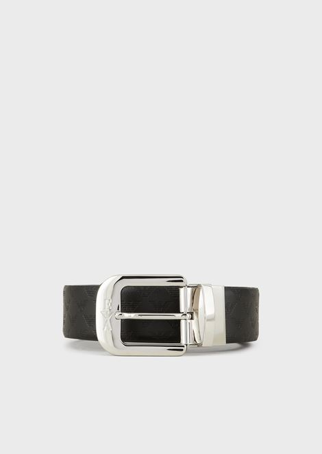 608831b8987a ALL-OVER PRINT AND SMOOTH LEATHER BELT