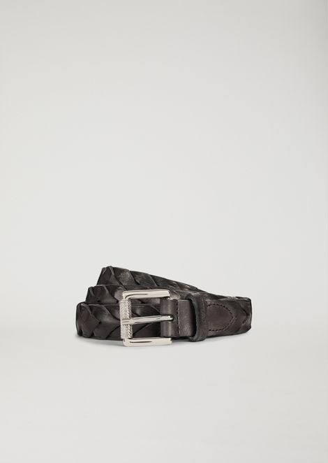 Belt in braided leather
