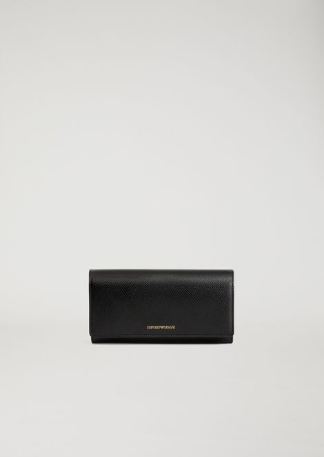 Wallet with eco leather flap