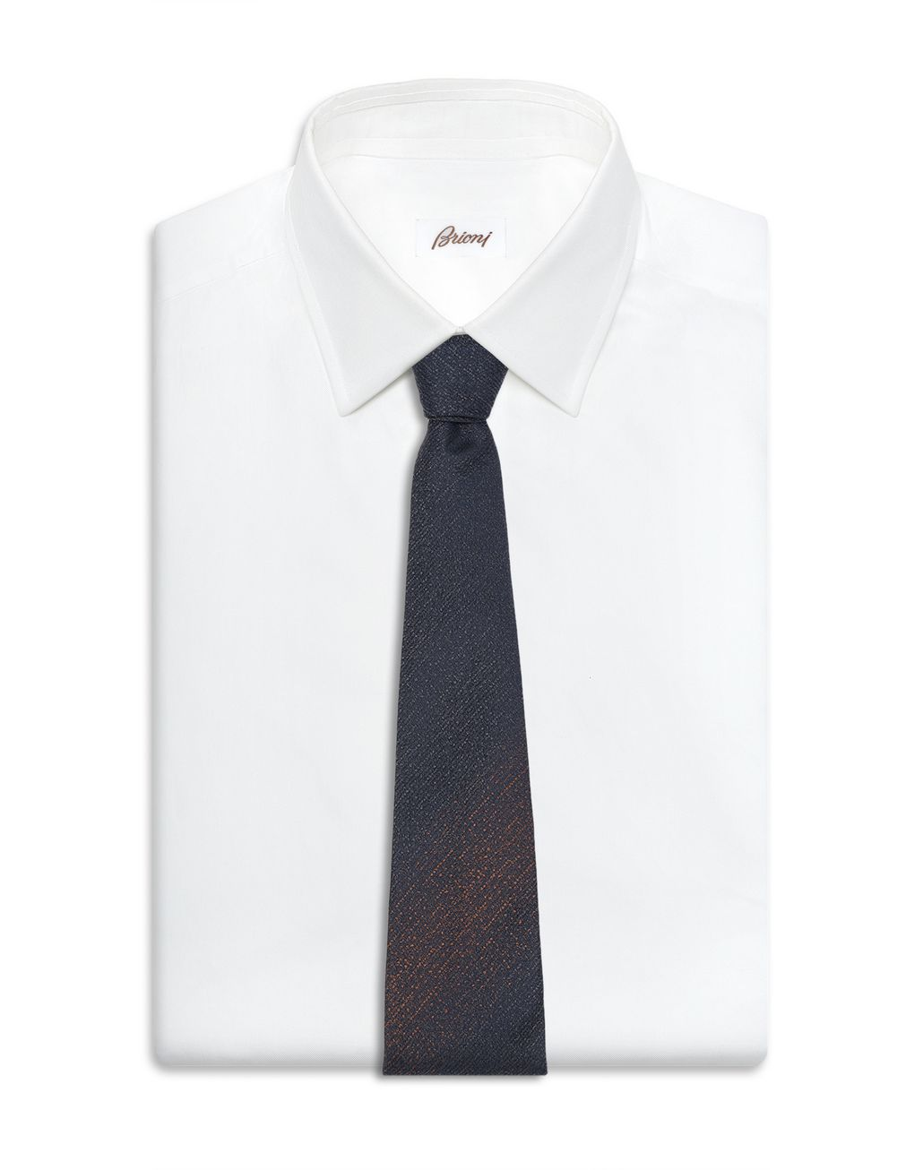 BRIONI Midnight Blue and Brown Tie Tie Man d