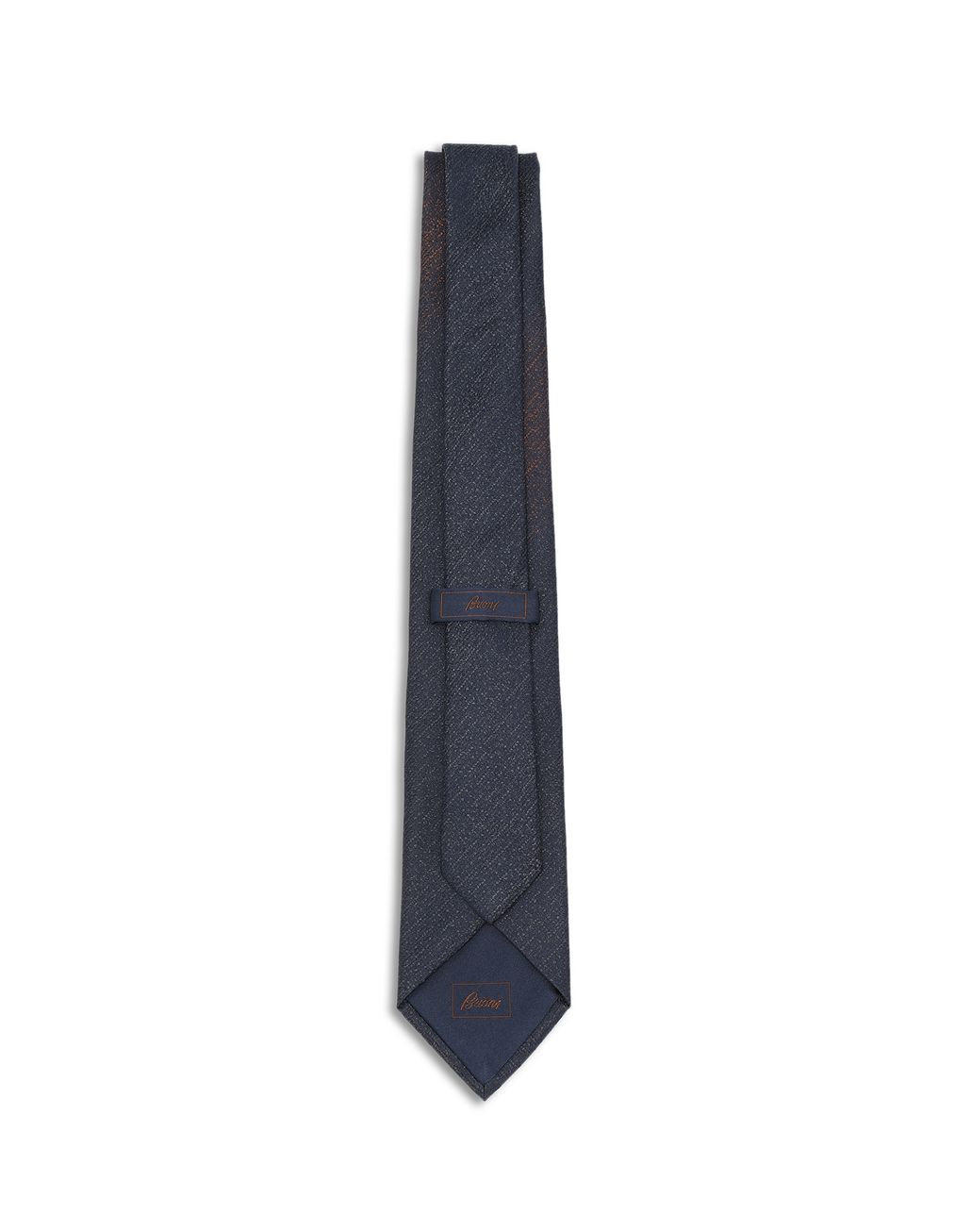 BRIONI Midnight Blue and Brown Tie Tie [*** pickupInStoreShippingNotGuaranteed_info ***] r