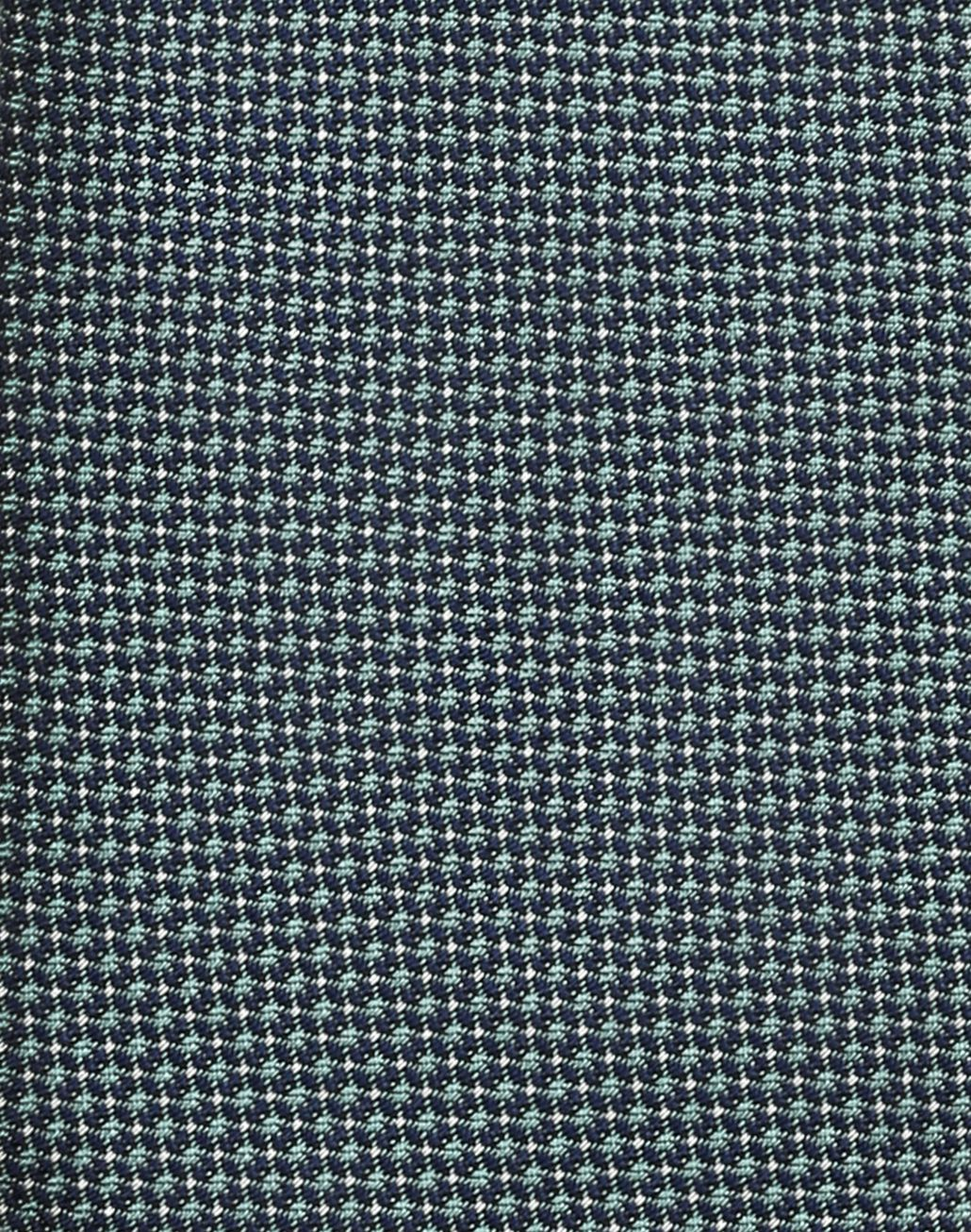 BRIONI Reseda and Midnight Blue Micro Designed Tie Tie Man e