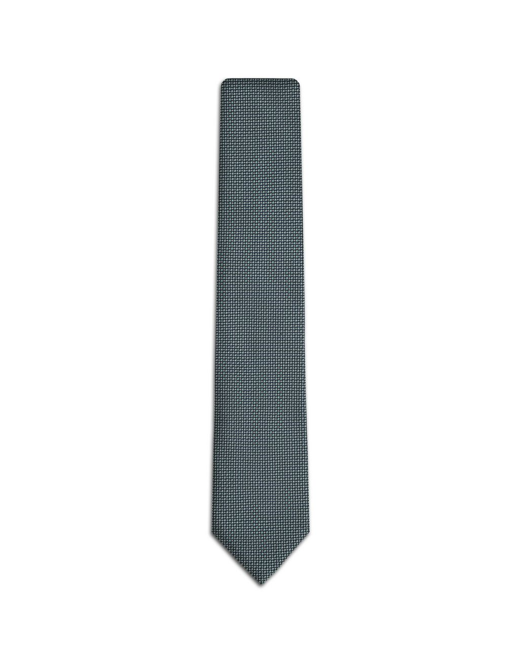BRIONI Reseda and Midnight Blue Micro Designed Tie Tie Man f