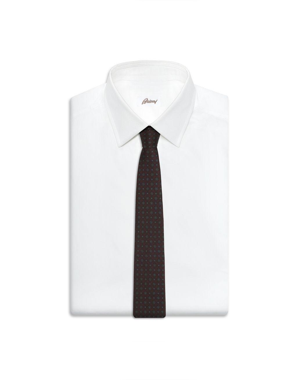 BRIONI Amaranth Macro Design Tie Tie Man d