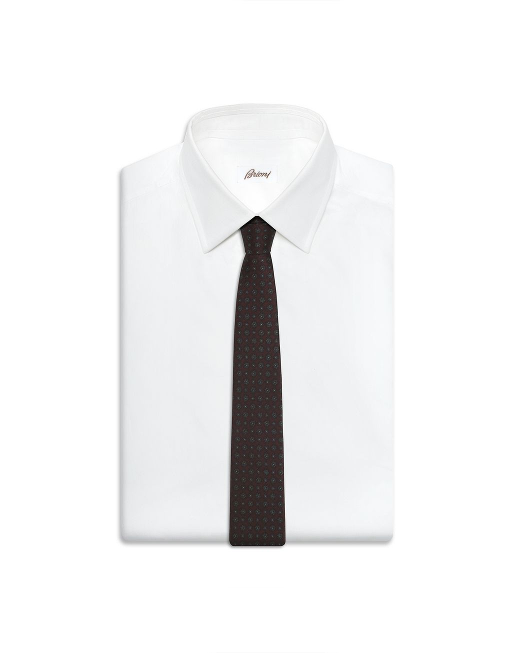 BRIONI Amaranth Macro Design Tie Tie [*** pickupInStoreShippingNotGuaranteed_info ***] d