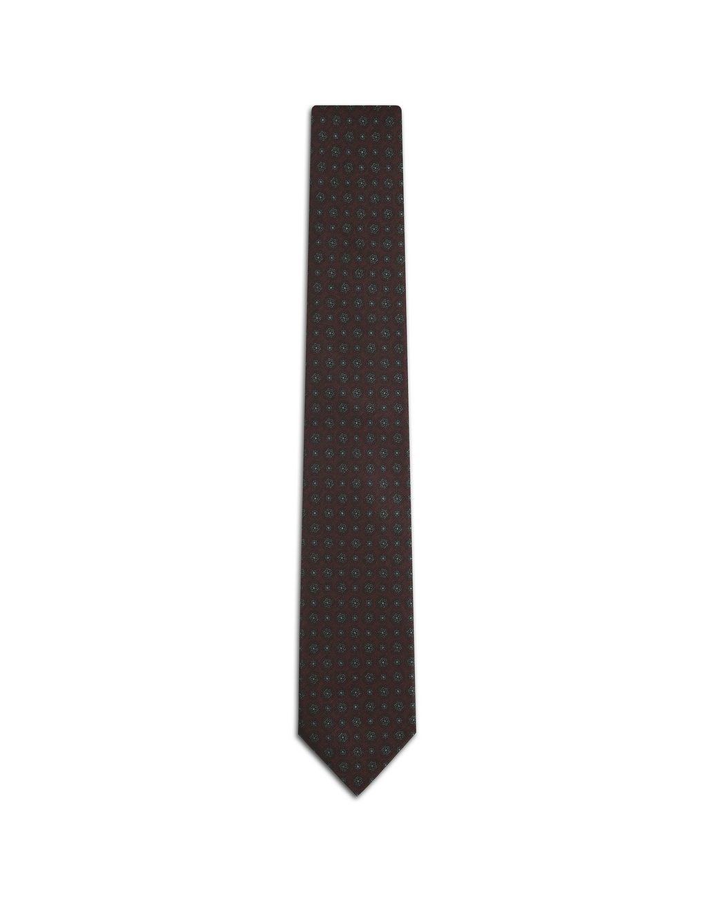 BRIONI Krawatte in der Farbe Amaranth mit großem Muster Krawatte [*** pickupInStoreShippingNotGuaranteed_info ***] f