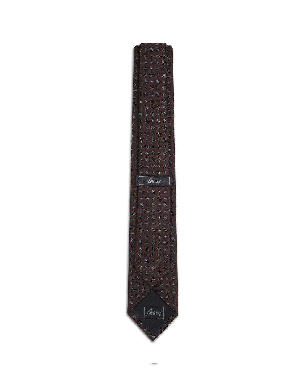 BRIONI Amaranth Macro Design Tie Tie Man r