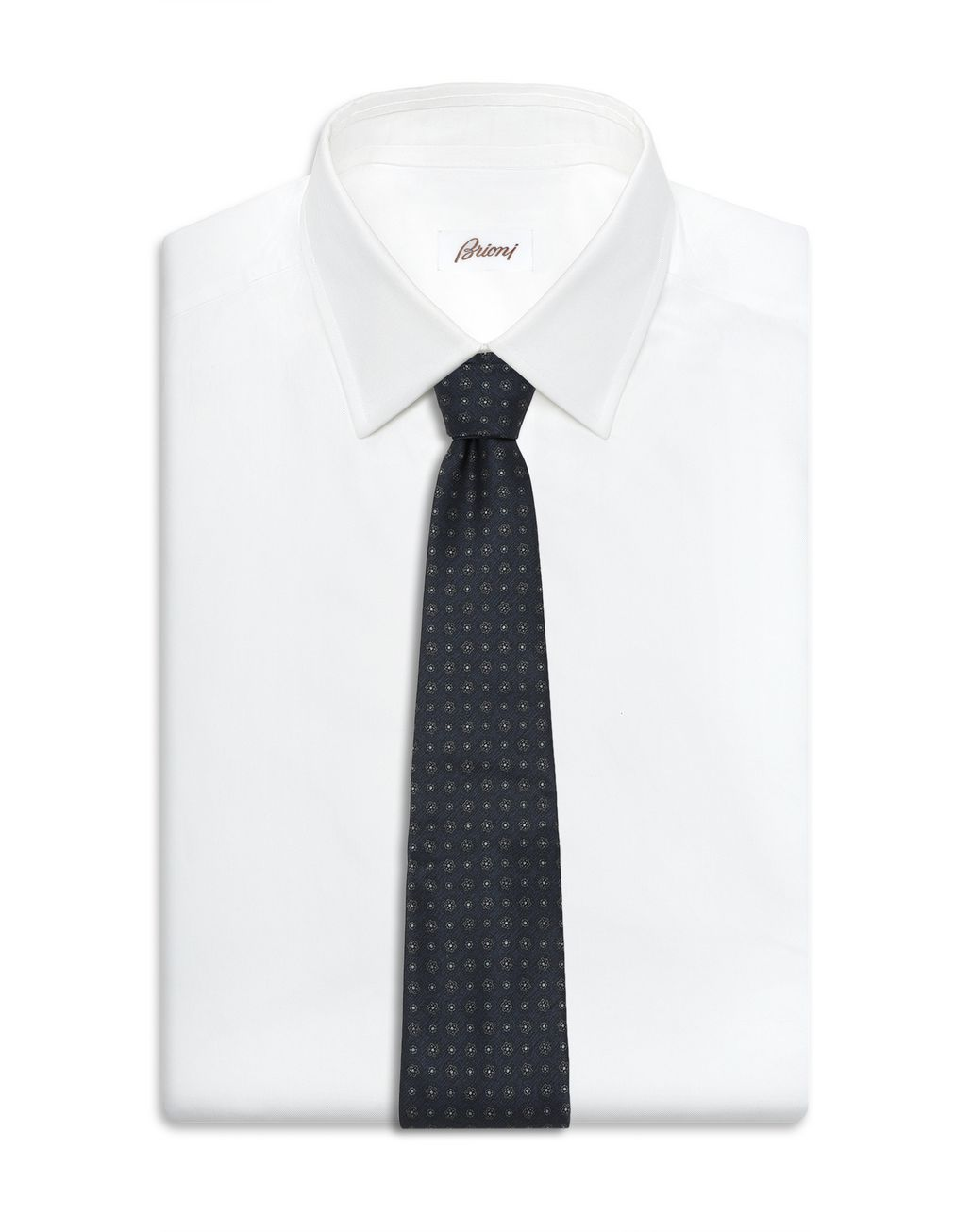 BRIONI Cravate bleu marine à large motif Cravate [*** pickupInStoreShippingNotGuaranteed_info ***] d