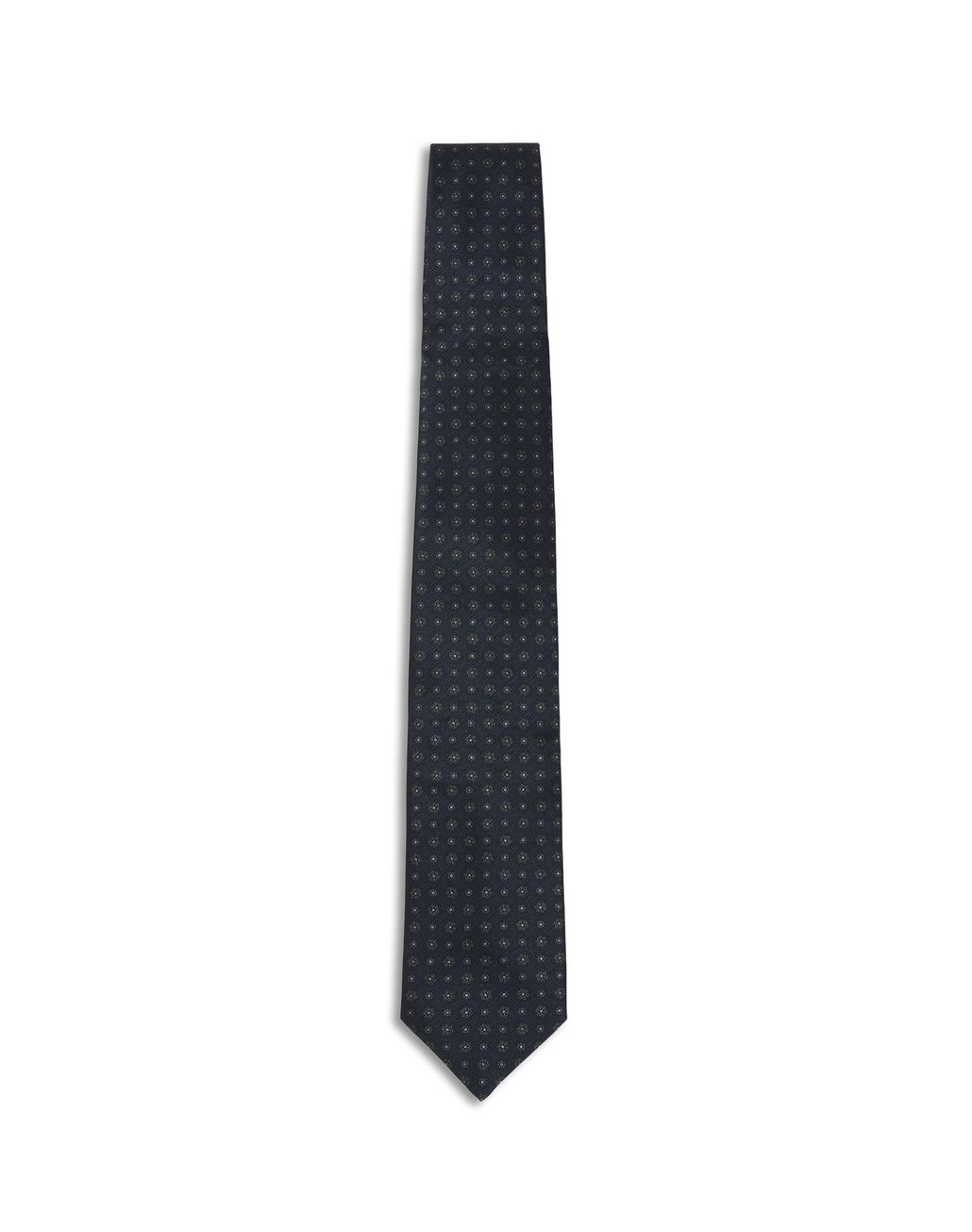 BRIONI Navy Blue Macro Design Tie Tie [*** pickupInStoreShippingNotGuaranteed_info ***] f